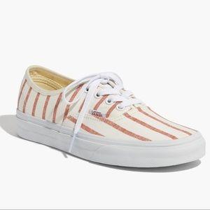 Madewell x Vans Lace Up Blush Stripe Sz 9 NiB